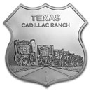 1 oz Silver - Icons of Route 66 Shield (Texas Cadillac Ranch)