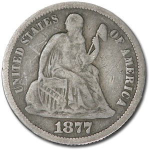 1877 Liberty Seated Dime VF