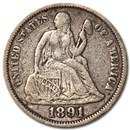 1891 Liberty Seated Dime XF