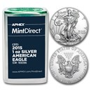 2015 1 oz Silver American Eagles (20-Coin MintDirect® Tube)