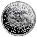 2018 China 1 oz Silver Kiangnan Dragon Dollar Restrike (PU)