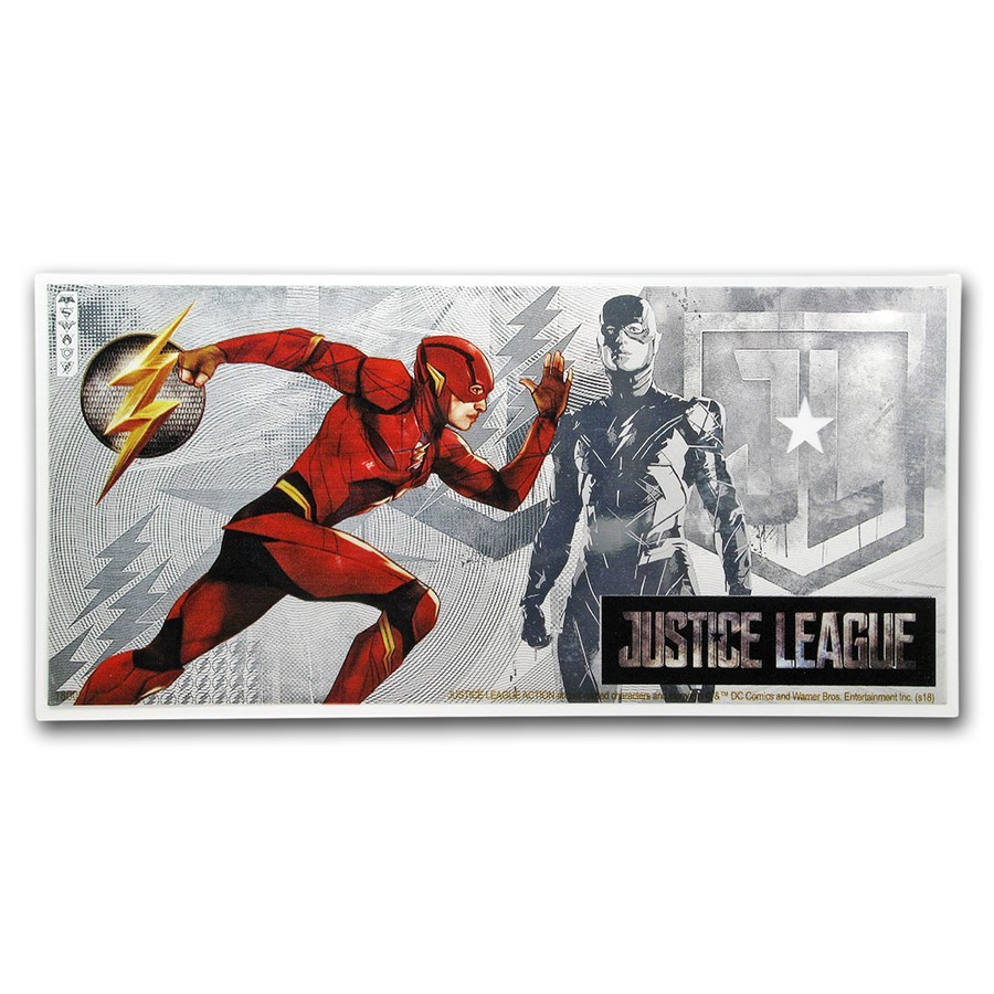 2018 Niue 5 gram Silver $1 Note Justice League The Flash