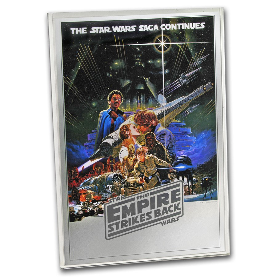 2018 Niue 35g Silver $2 Star Wars Empire Strikes Back Foil Poster