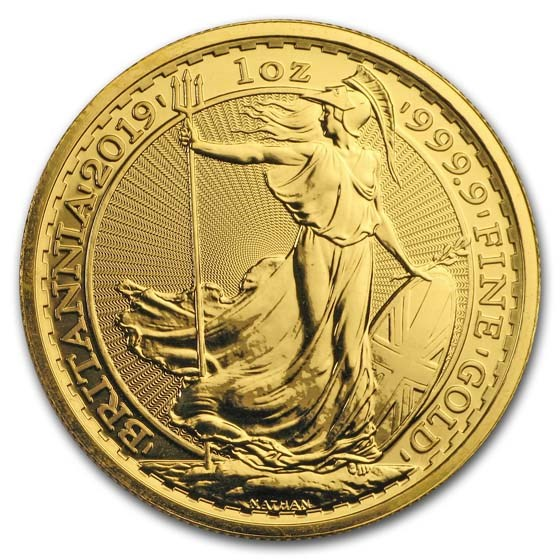 2019 Great Britain 1 oz Gold Britannia BU