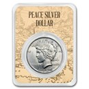 1922-1935 Peace Silver Dollar Eagle Map Card BU (Random Year)