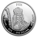2018 1 oz Silver State Dollars Iowa Rabbit Proof
