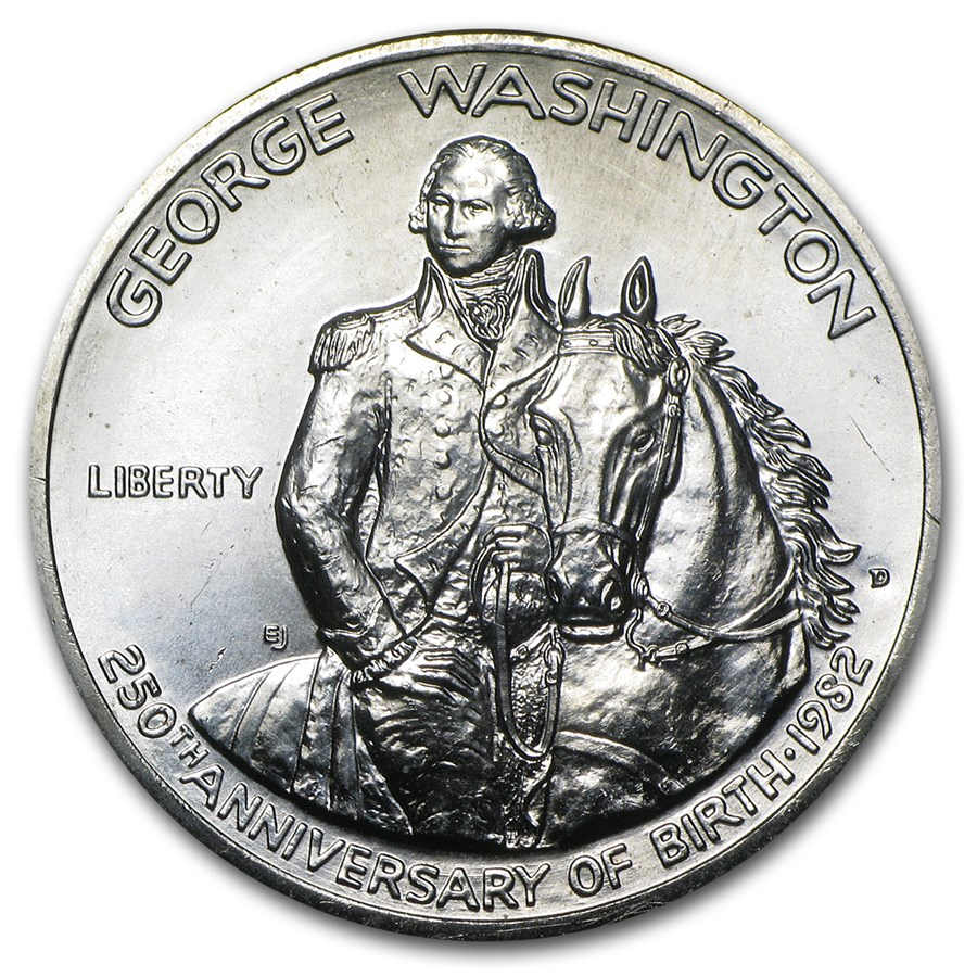 1982 Washington 1/2 Dollar 90% Silver Commem BU/Prf (No box/COA)