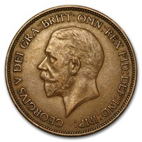 1911-1936 Great Britain George V Large Penny Ave Circ (Random)