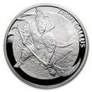 2017 South Korea 1 oz Silver ZI:SIN Gallus Proof