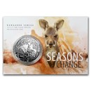 2019 Australia 1 oz Silver Kangaroo (Display Card)