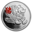 2019 Niue 1 oz Silver $2 Disney Lunar Year of the Pig