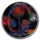 2018 Ivory Coast 2 oz Silver Magnificent Landmarks London Eye