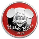 2019 Niue 2 oz Silver $5 Mickey Mouse Club Ultra High Relief Prf