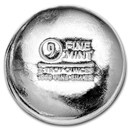 2 oz Cast-Poured Silver Round - 9Fine Mint