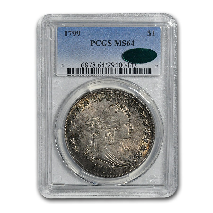 1799 Draped Bust Dollar MS-64+ PCGS CAC