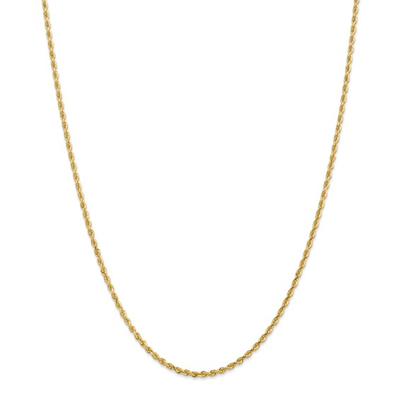 14k Yellow Gold 2.25 mm Diamond Cut Quadruple Rope Chain - 28 in.