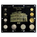 1870-1893 Carson City Type Coin Set (Capital Plastic holder)