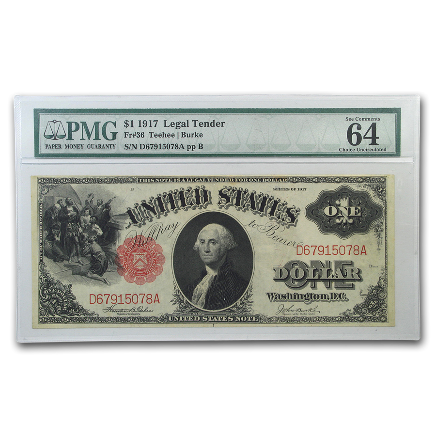 1917 $1.00 Legal Tender George Washington CU-64 EPQ PMG