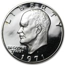 1971-S 40% Silver Eisenhower Dollar Gem Proof