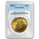 1906-S $20 Liberty Gold Double Eagle MS-62 PCGS