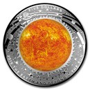 2019 Australia 1 oz Silver $5 Domed Earth and Beyond: The Sun