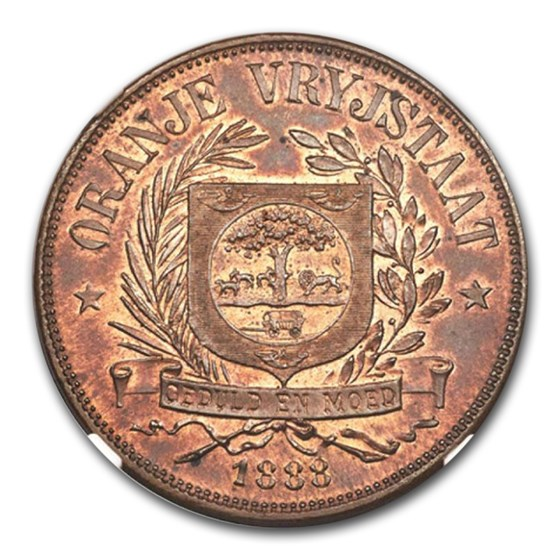 (1815-16) Orange Free State Penny PR-64 PCGS (Red/Brown)