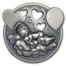 2019 Cook Islands 1 oz Antique Silver Lullaby Little Princess