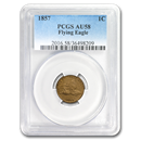 1857 Flying Eagle Cent AU-58 PCGS