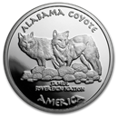 2019 1 oz Silver State Dollars Alabama Coyote