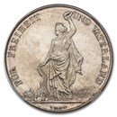 1872 Switzerland Zurich Shooting Thaler 5 Francs MS-64 NGC