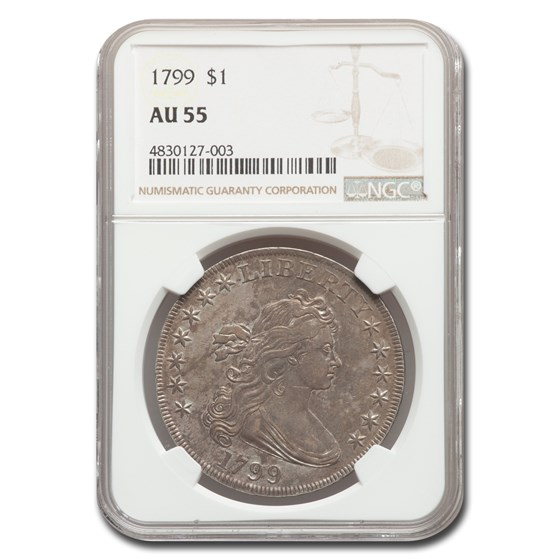 1799 Draped Bust Dollar AU-55 NGC
