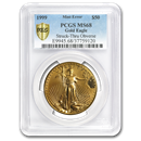 1999 1 oz Gold American Eagle MS-68 PCGS (Obv Mint Error)