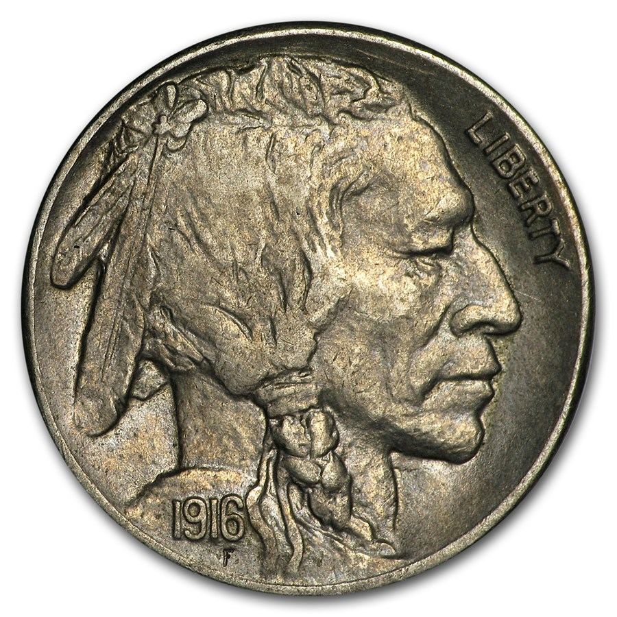 1916-S Buffalo Nickel AU