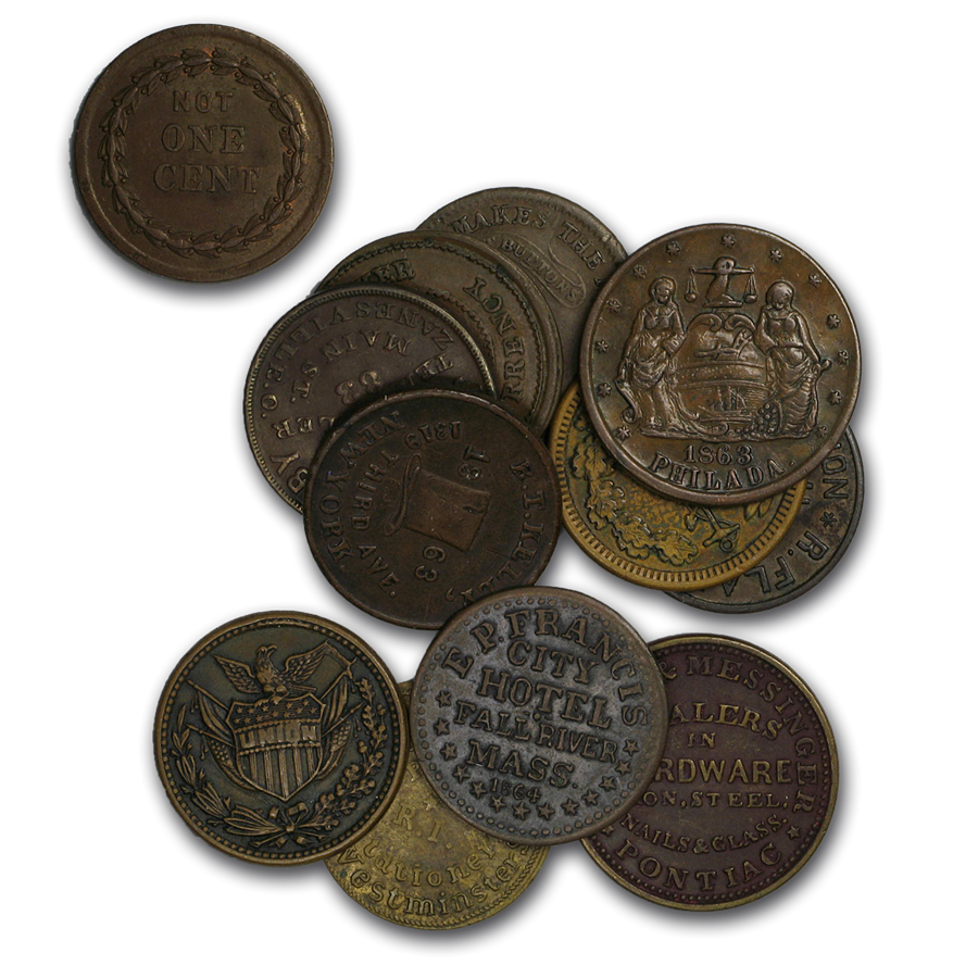 Civil War Tokens Avg Circ (Patriotics or Store Cards)