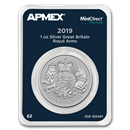 2019 Great Britain 1 oz Silver Royal Arms (MintDirect® Premier)