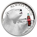2019 Fiji 1 oz Proof Silver Cola-Cola Polar Bear HR