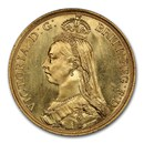 1887 Great Britain Gold Two Pounds Victoria MS-65 PCGS