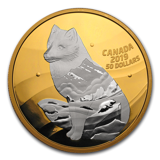 2019 Canada 5 oz Silver My Inner Nature: Arctic Fox