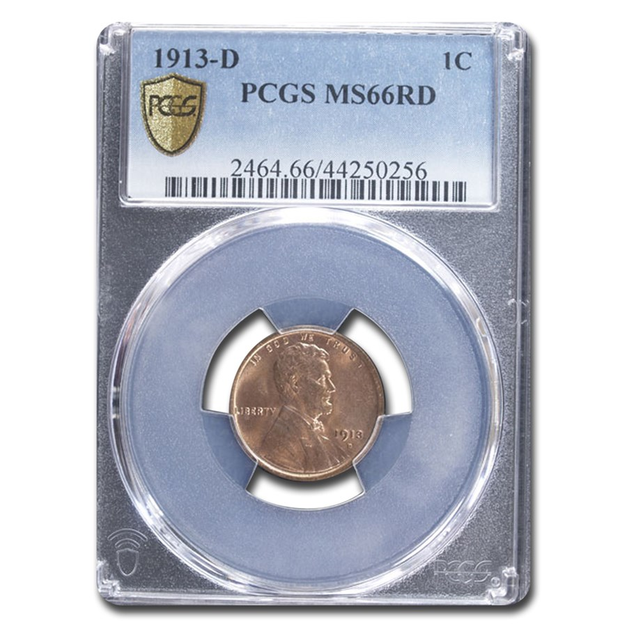 1913-D Lincoln Cent MS-66 PCGS (Red)