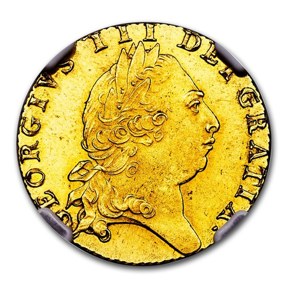 1793 Great Britain Gold Guinea George III MS-63 NGC