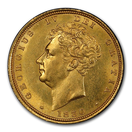 1830 Great Britain Gold Sovereign George IV MS-63 PCGS