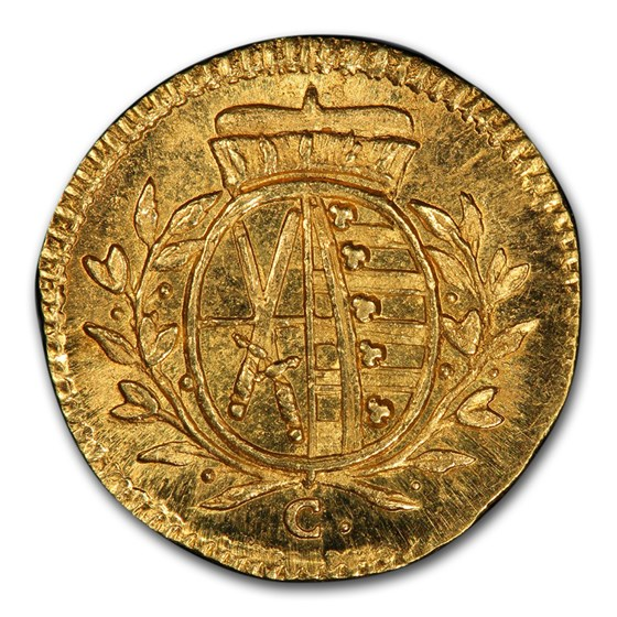 1765 German States Saxony-Albertine Gold Pfennig SP-65+ PCGS