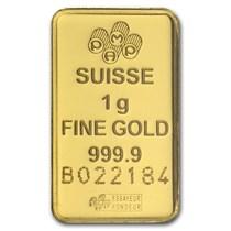 1 Gram Gold Bar Pamp Suisse Lady