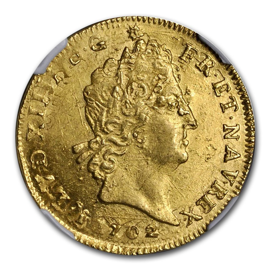 1702 France Gold Louis D'or MS-64 NGC