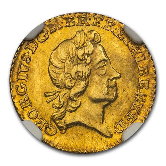 1718 Great Britain Gold 1/4 Guinea George I MS-65 NGC