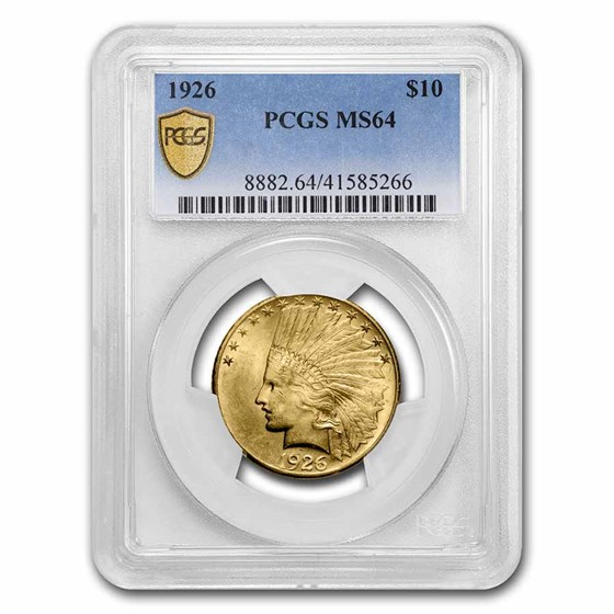 1926 $10 Indian Gold Eagle MS-64 PCGS