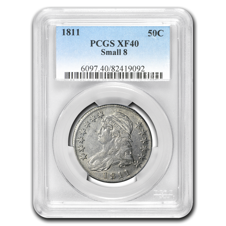 1811 Capped Bust Half Dollar XF-40 PCGS (Small 8)