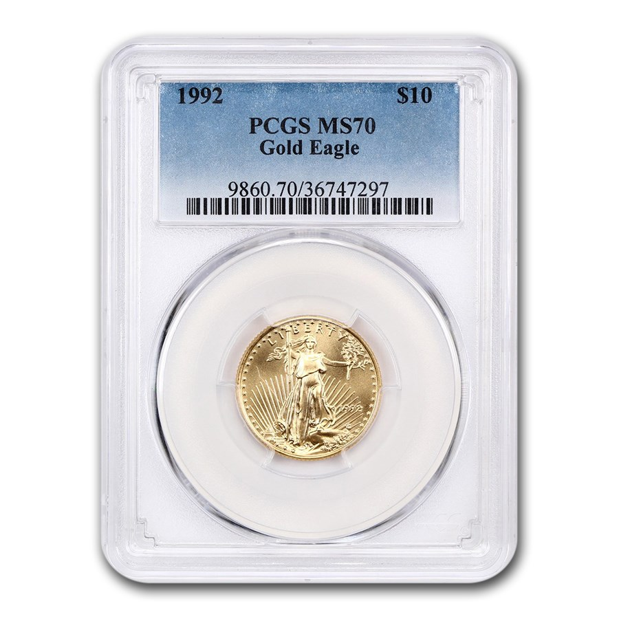 1992 1/4 oz Gold American Eagle MS-70 PCGS