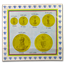 1969 Colombia 5-Coin Gold Battle of Boyaca Proof Set (3.233 AGW)