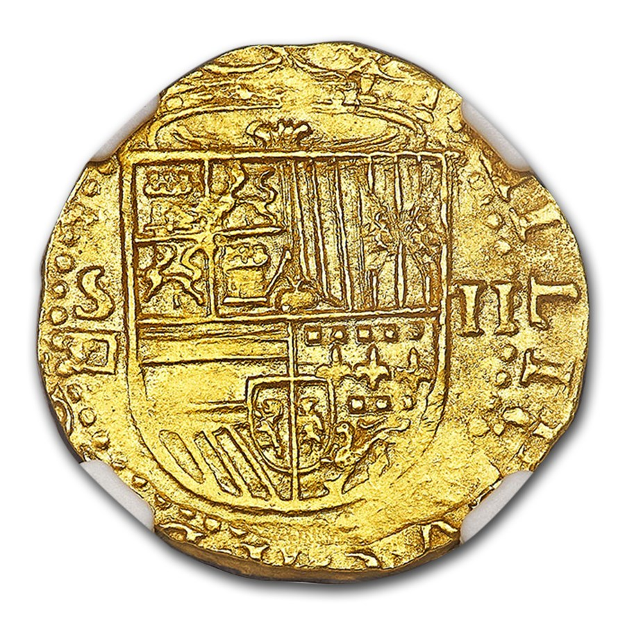 (1556-1598) Spain Gold 2 Escudos Philip II MS-64 NGC